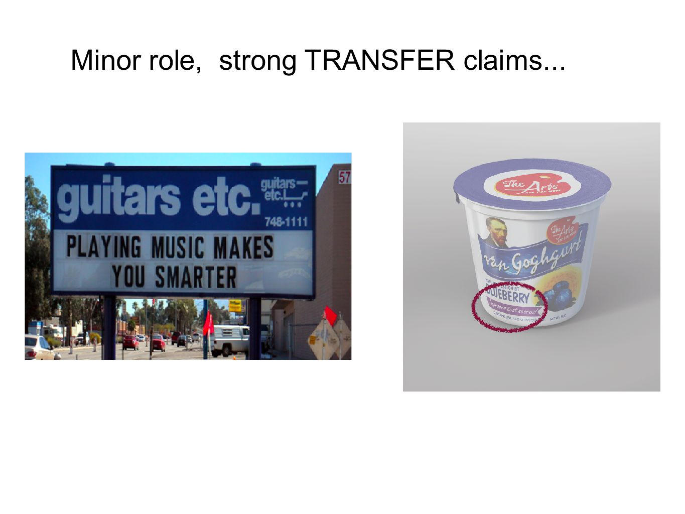 Minor role, strong TRANSFER claims...