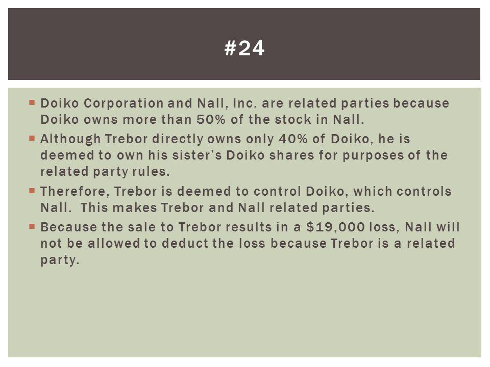  Doiko Corporation and Nall, Inc.