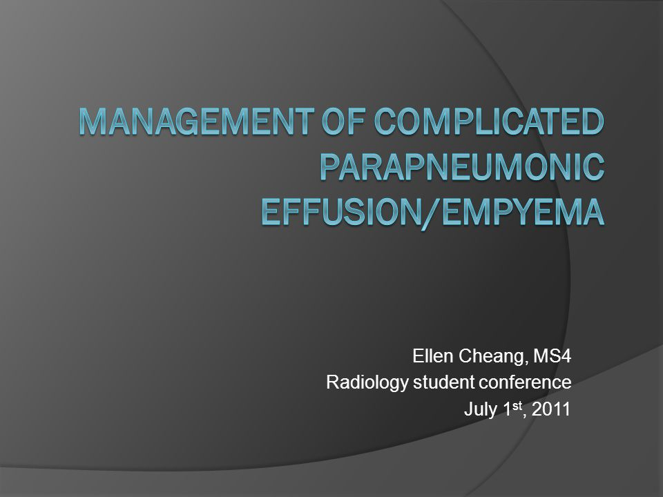 Ellen Cheang, MS4 Radiology student conference July 1 st, 2011