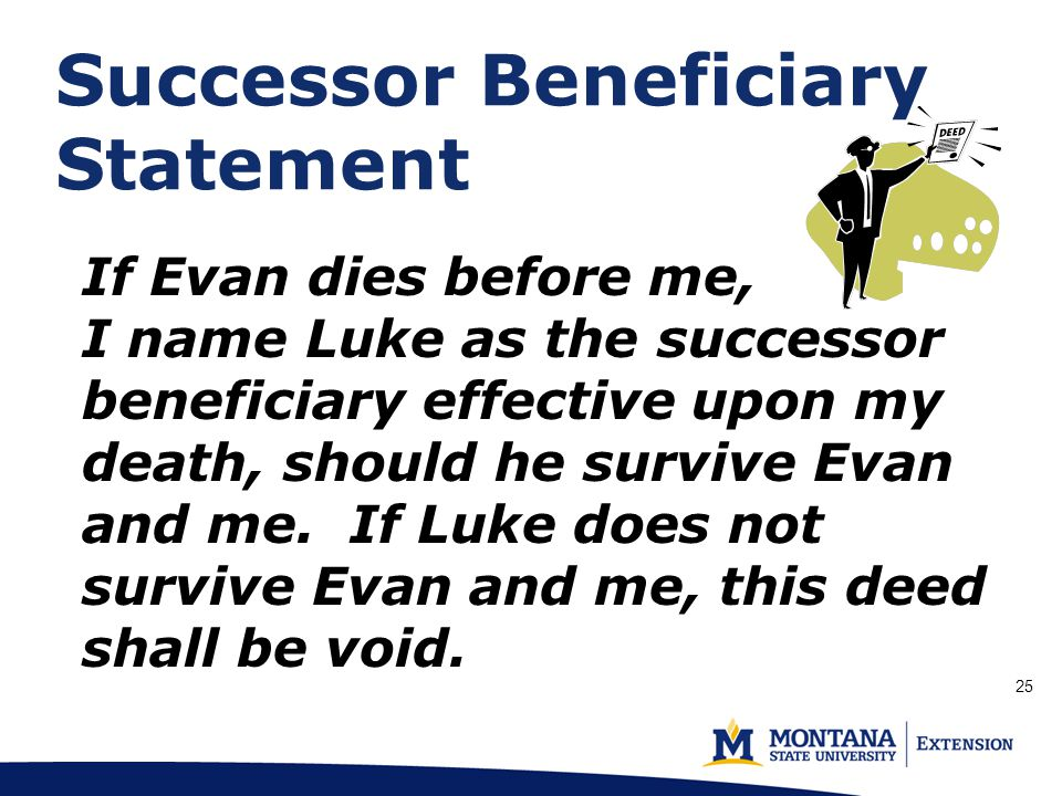 Successor Beneficiary Statement (p.