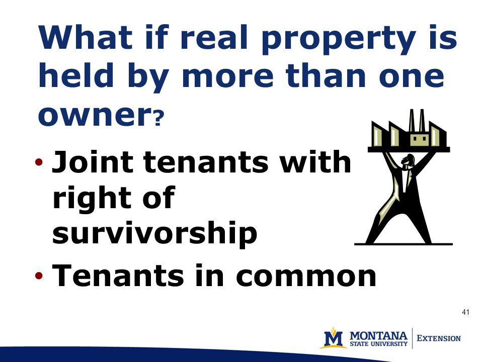 What if real property is held by more than one owner .