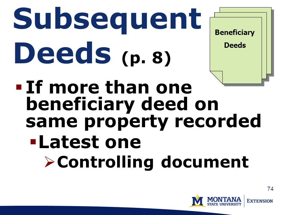 74 Subsequent Deeds (p.