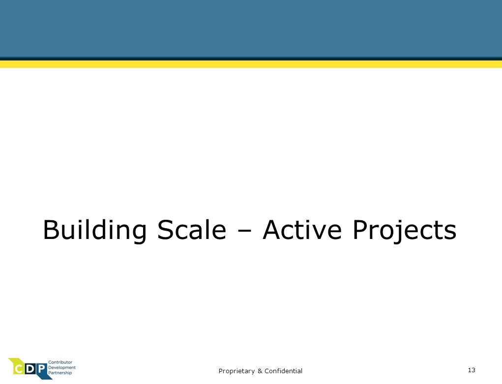 Proprietary & Confidential Building Scale – Active Projects 13