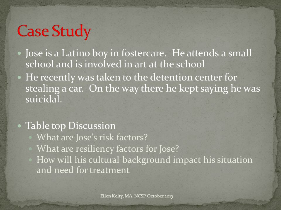 Jose is a Latino boy in fostercare.