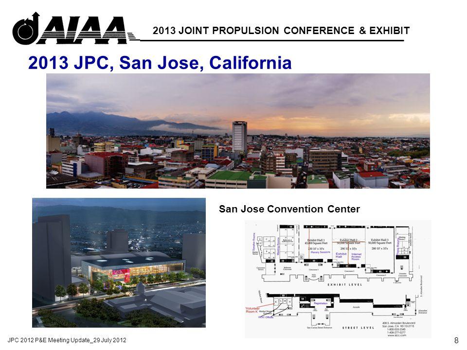 8 JPC 2012 P&E Meeting Update_29 July 2012 2013 JOINT PROPULSION CONFERENCE & EXHIBIT 2013 JPC, San Jose, California San Jose Convention Center Hyatt Regency Convention Center Layout