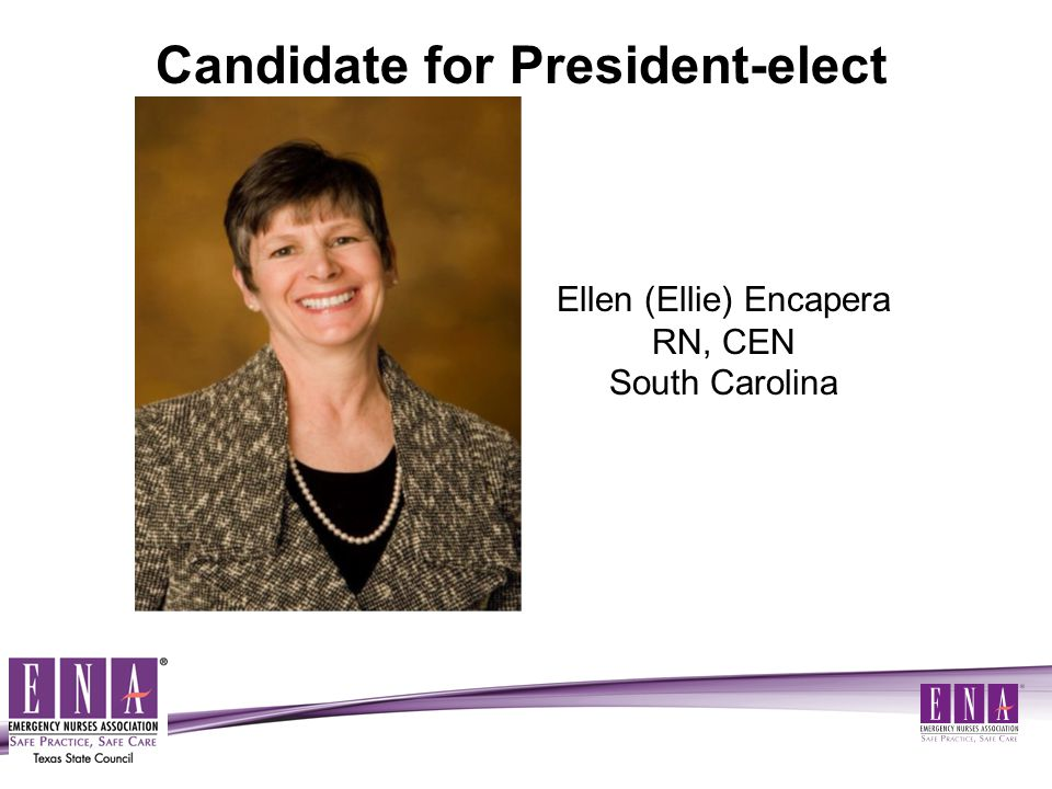Mary Ellen (Mel) Wilson, MS, RN, CEN, COHN-S, FNP-C, FAEN Ohio Candidate for Nominations and Elections Committee- Past Board Member