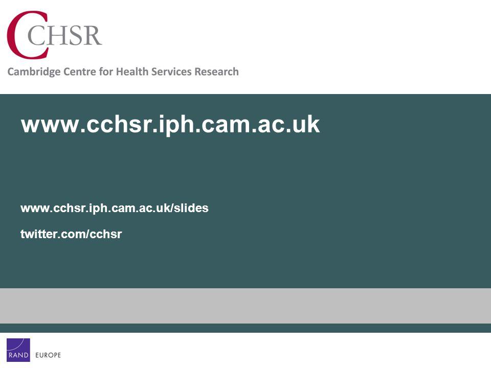 www.cchsr.iph.cam.ac.uk www.cchsr.iph.cam.ac.uk/slides twitter.com/cchsr
