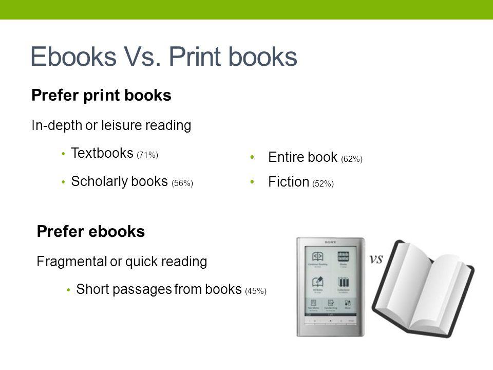 Ebooks Vs.