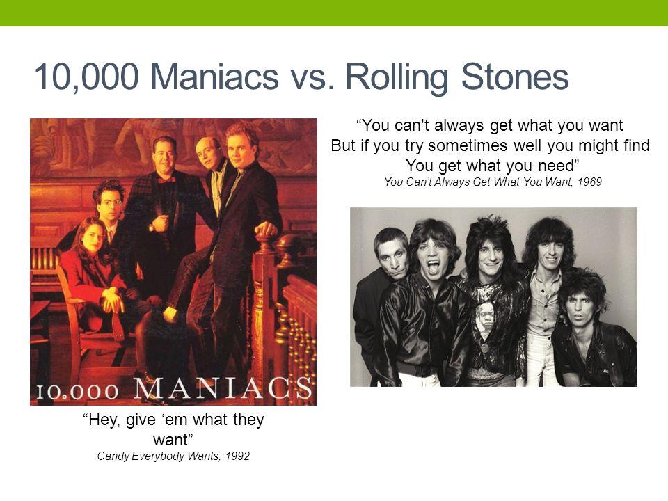 10,000 Maniacs vs.