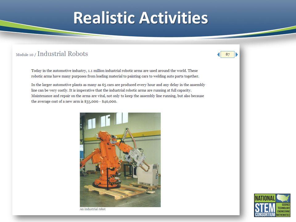 Realistic Activities