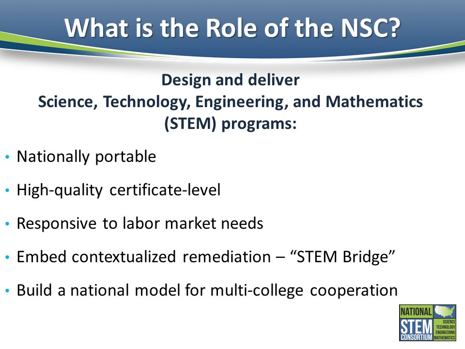 What is the Role of the NSC.