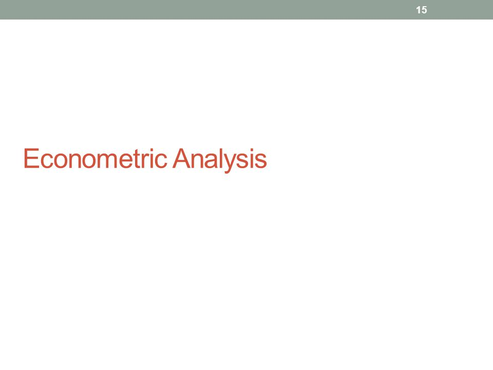 Econometric Analysis 15