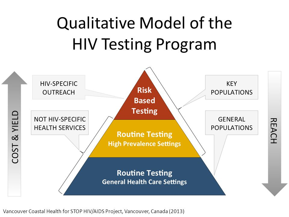 Qualitative Model of the HIV Testing Program Vancouver Coastal Health for STOP HIV/AIDS Project, Vancouver, Canada (2013)