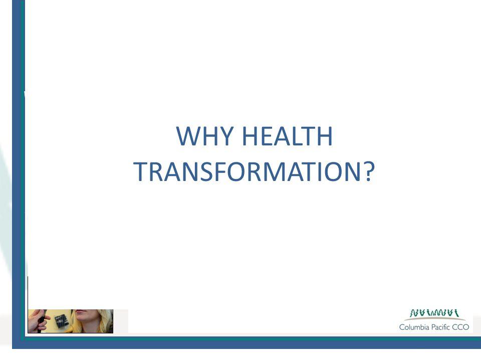 WHY HEALTH TRANSFORMATION