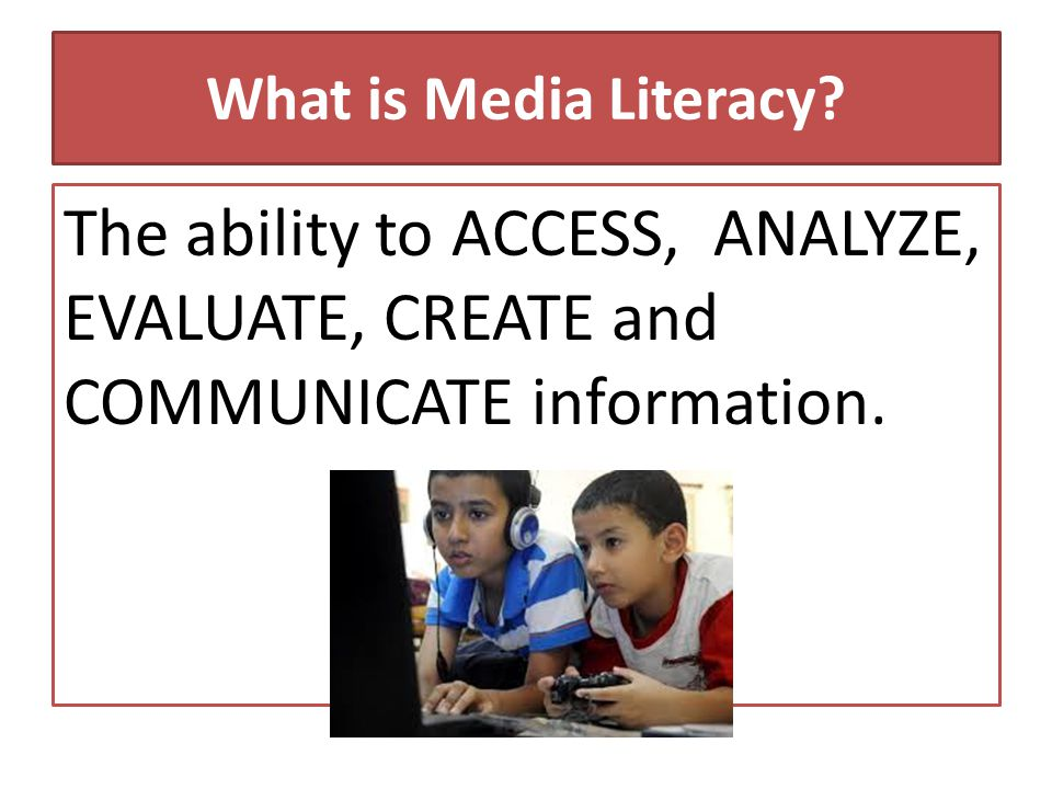 Why is Media Literacy important.