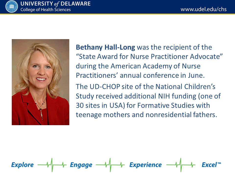 """Bethany Hall-Long was the recipient of the """"State Award for Nurse Practitioner Advocate"""" during the American Academy of Nurse Practitioners' annual co"""