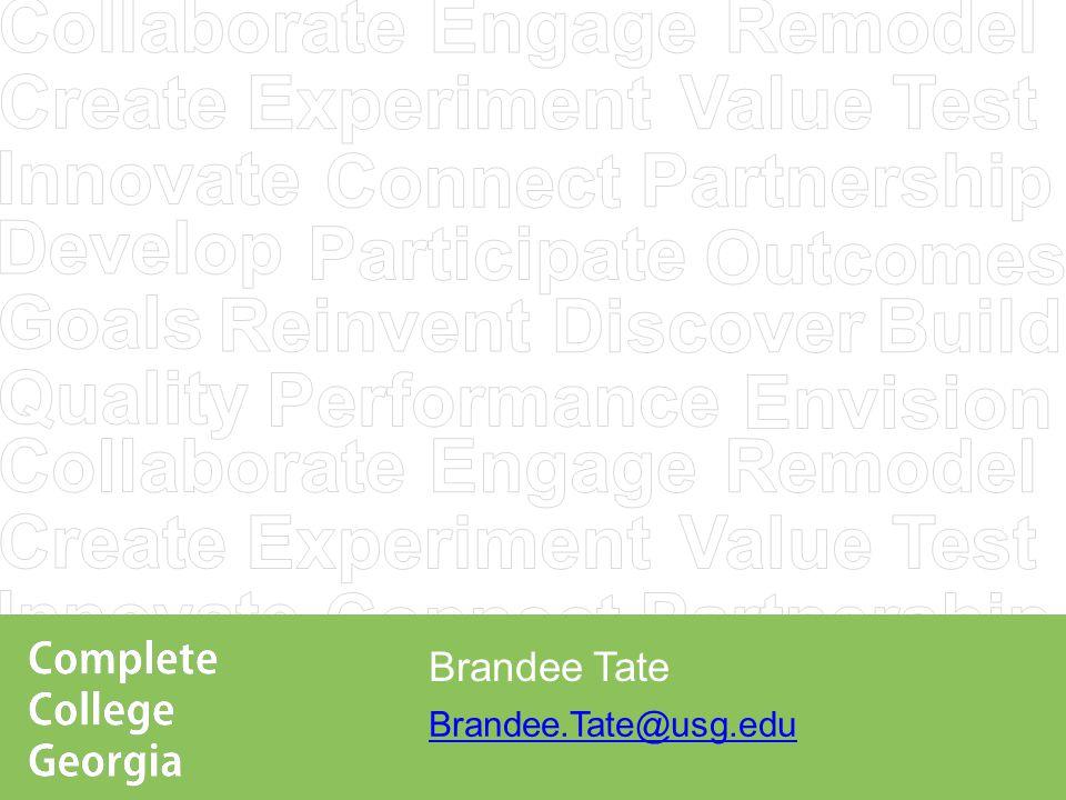 Brandee.Tate@usg.edu Brandee Tate