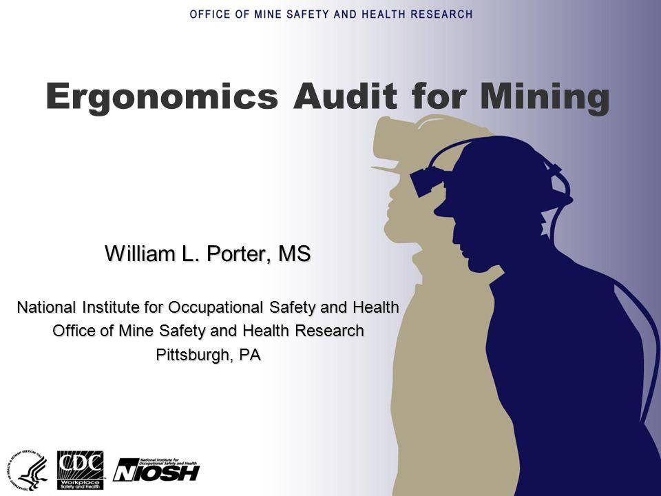 Ergonomics Audit for Mining William L.