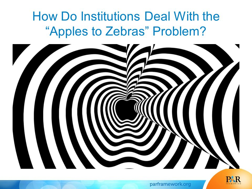 How Do Institutions Deal With the Apples to Zebras Problem?