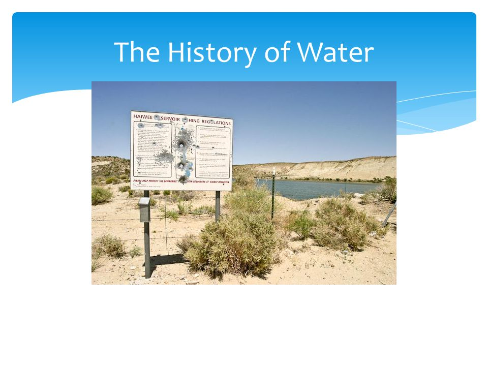 The History of Water