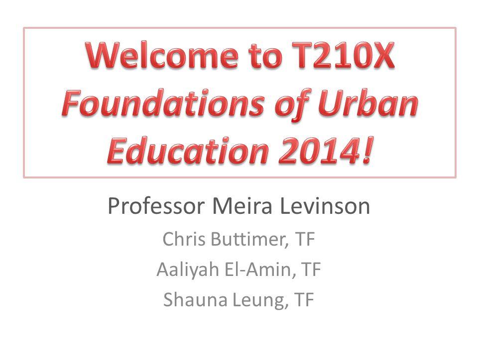 Professor Meira Levinson Chris Buttimer, TF Aaliyah El-Amin, TF Shauna Leung, TF