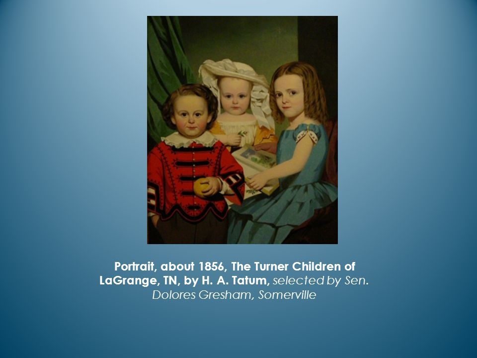 Portrait, about 1856, The Turner Children of LaGrange, TN, by H.
