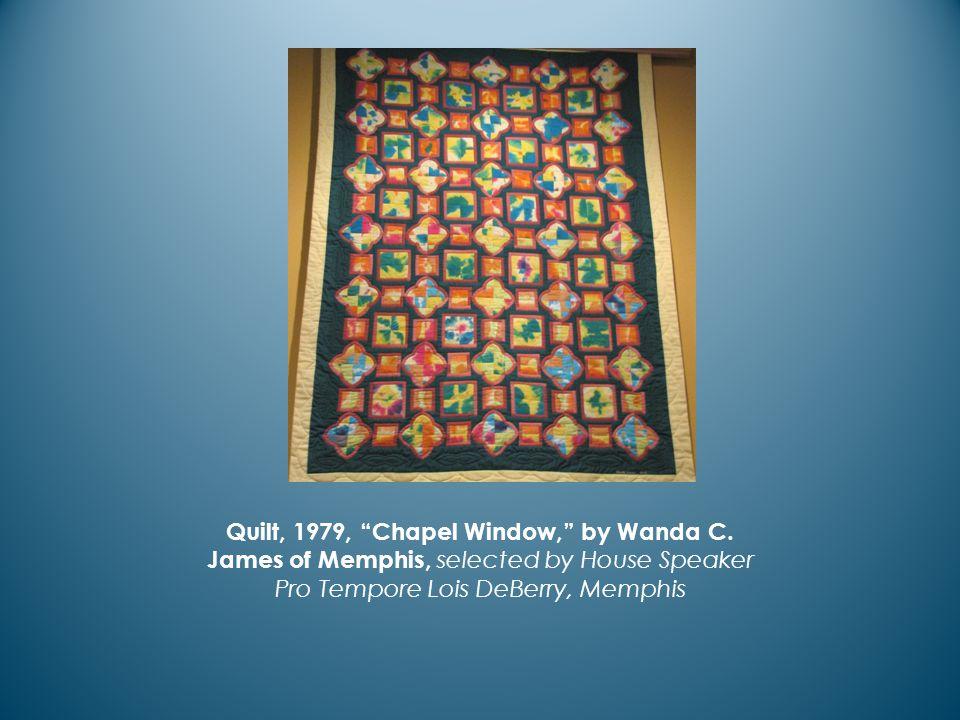 Quilt, 1979, Chapel Window, by Wanda C.
