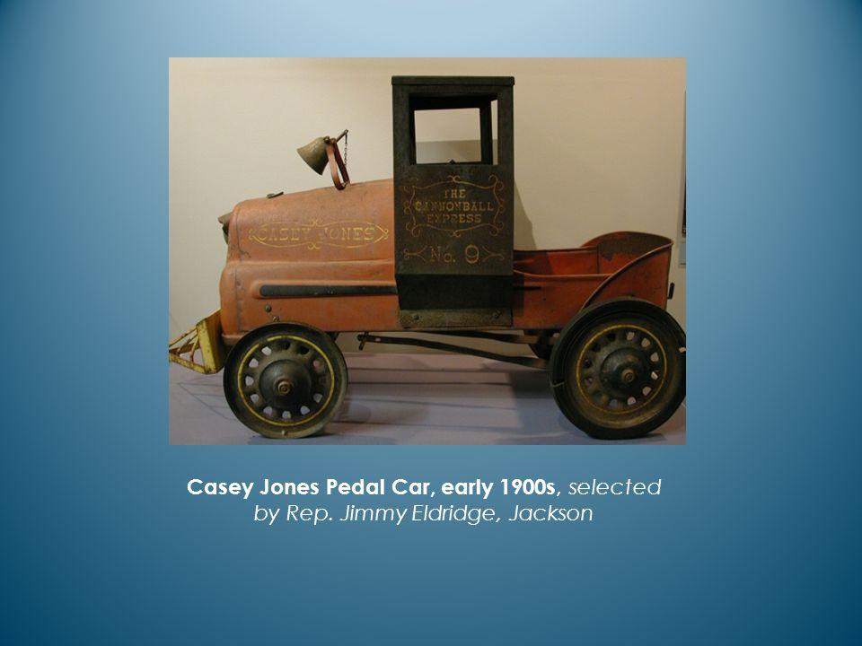 Casey Jones Pedal Car, early 1900s, selected by Rep. Jimmy Eldridge, Jackson