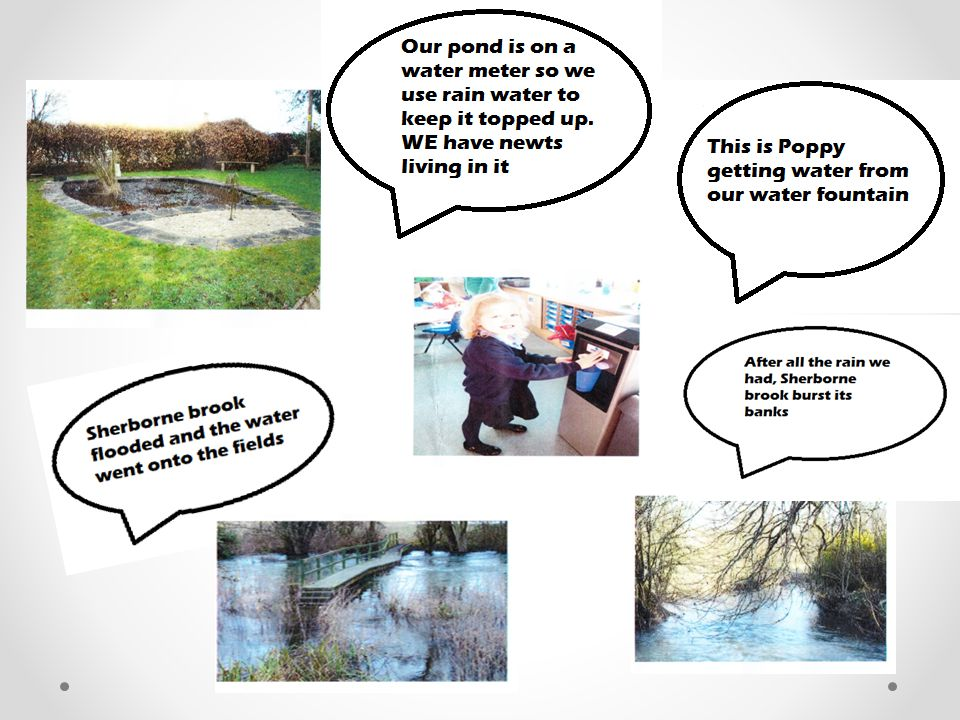 WATER USE Sherborne Environmental Study In our school grounds we have 3 water butts to collect rain water eau agua wody acqua water