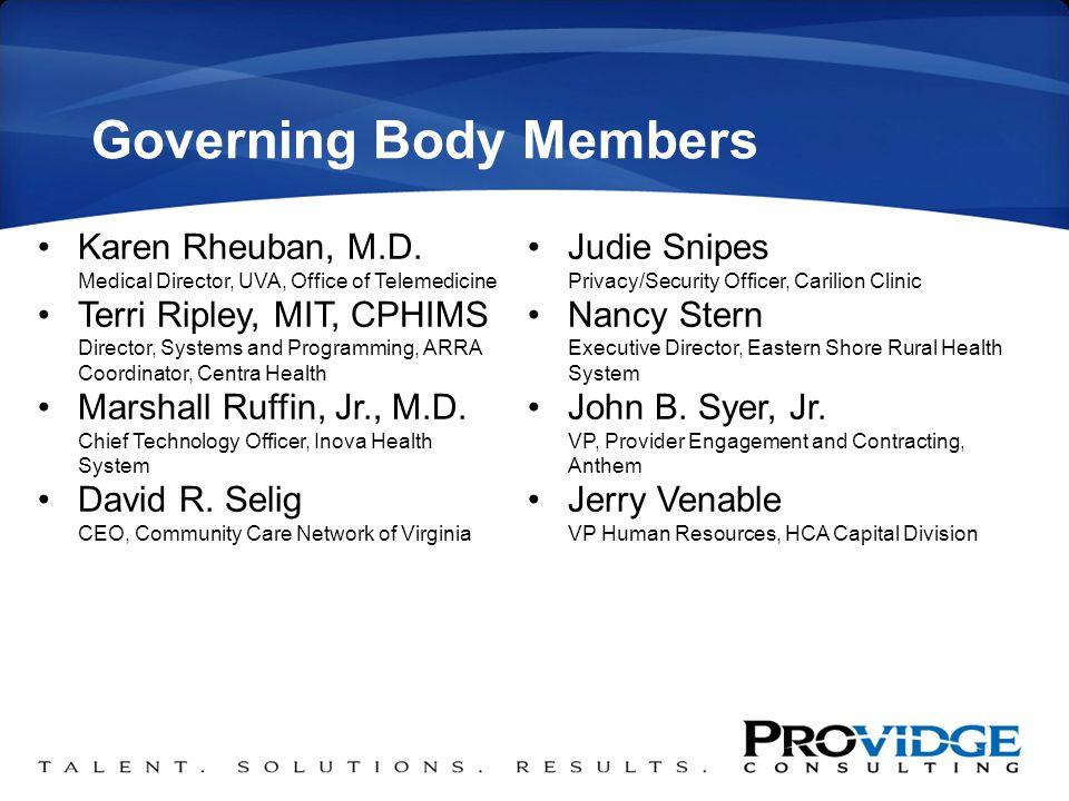 Governing Body Members Karen Rheuban, M.D.