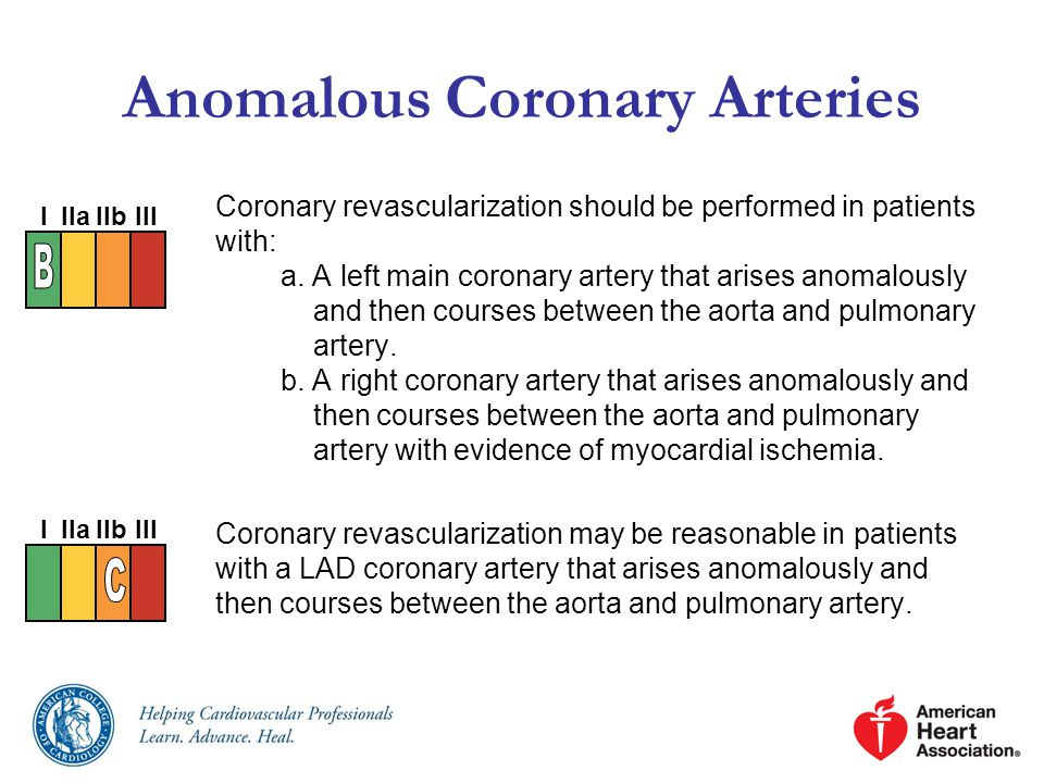 Anomalous Coronary Arteries Coronary revascularization should be performed in patients with: a.