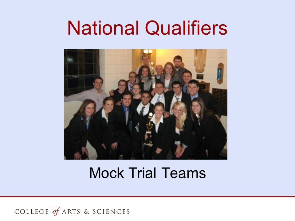 National Qualifiers Mock Trial Teams