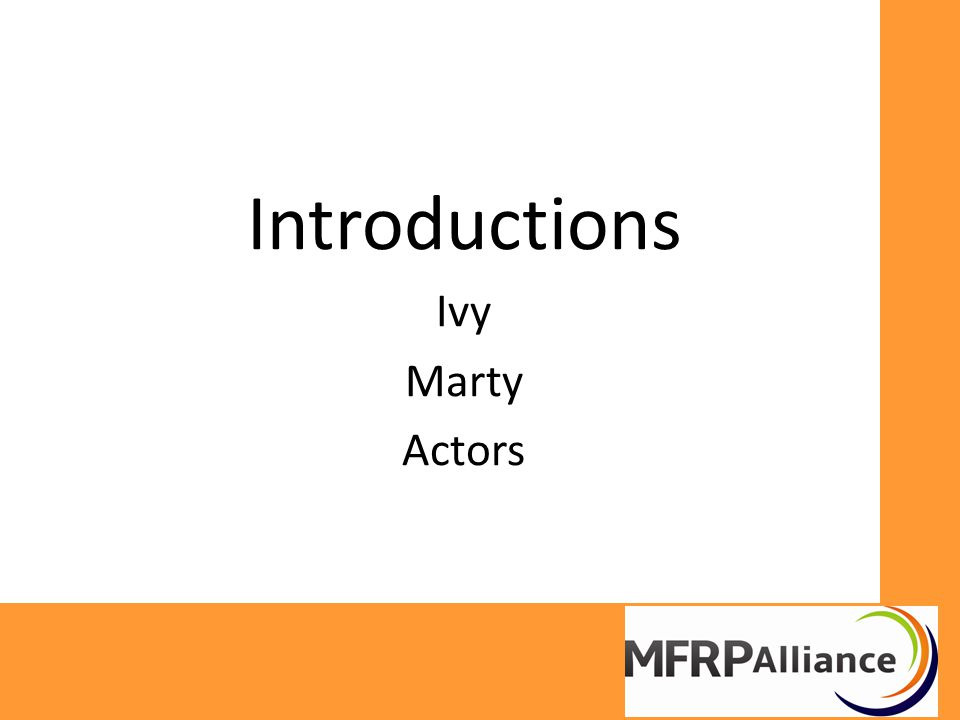 Introductions Ivy Marty Actors