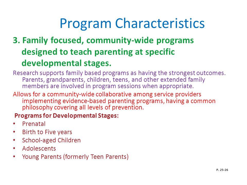 Program Characteristics 3.