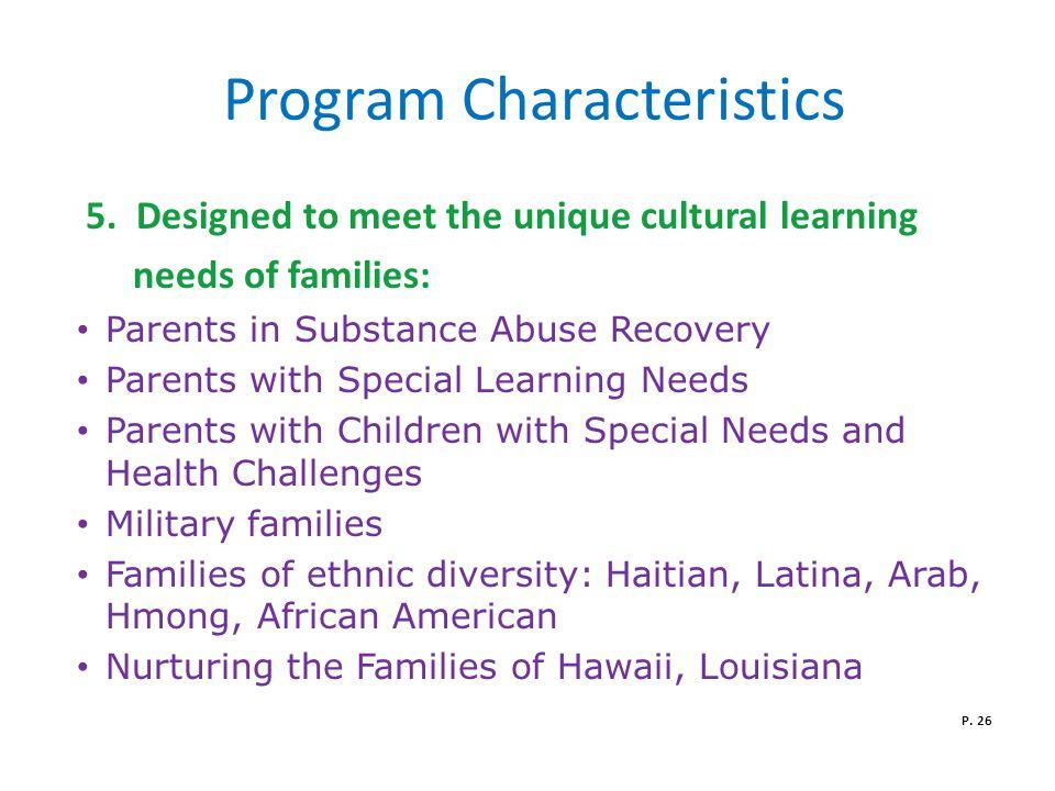 Program Characteristics 5.