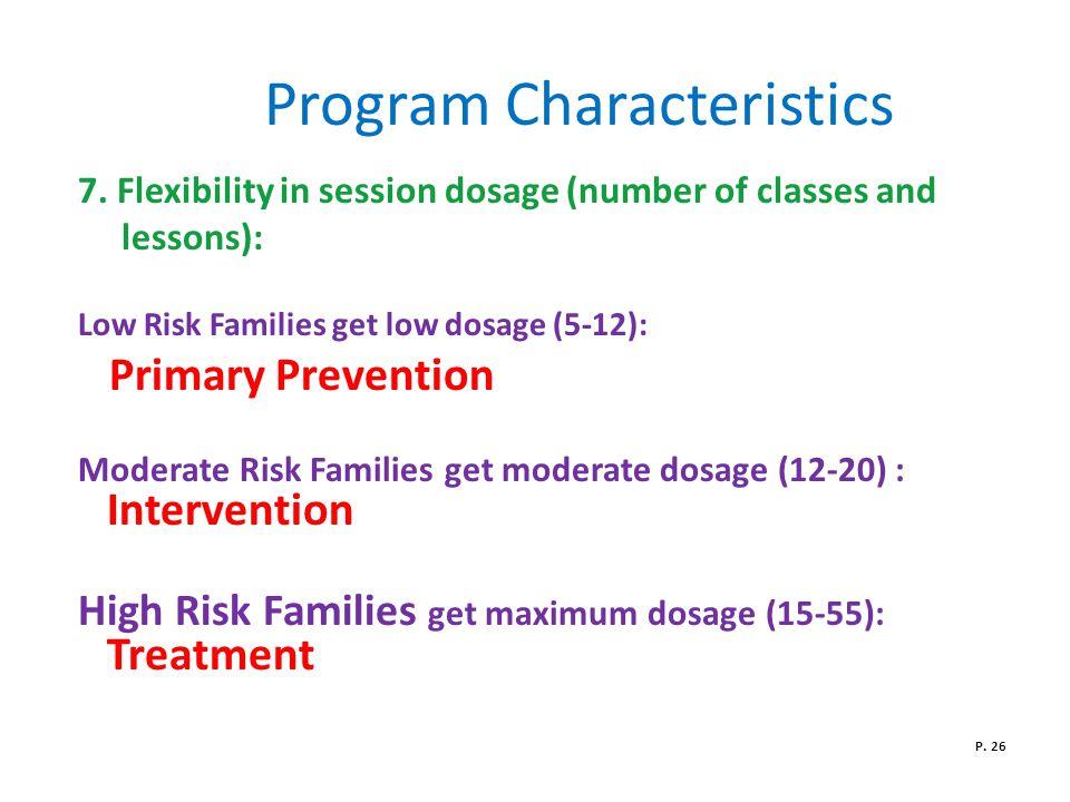 Program Characteristics 7.