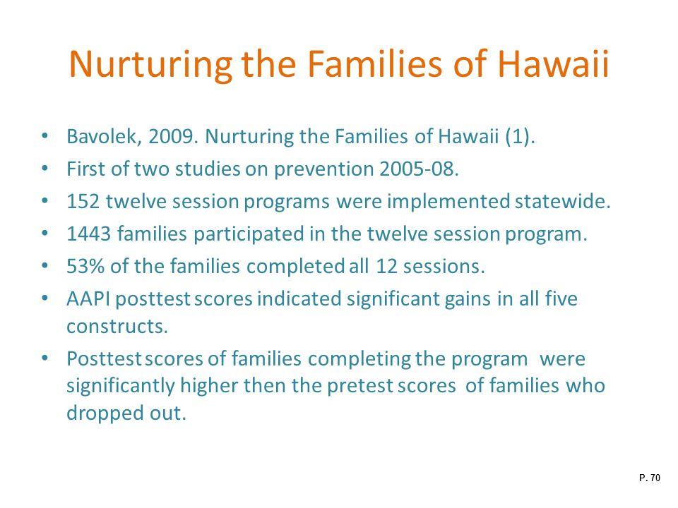 Nurturing the Families of Hawaii Bavolek, 2009.Nurturing the Families of Hawaii (1).