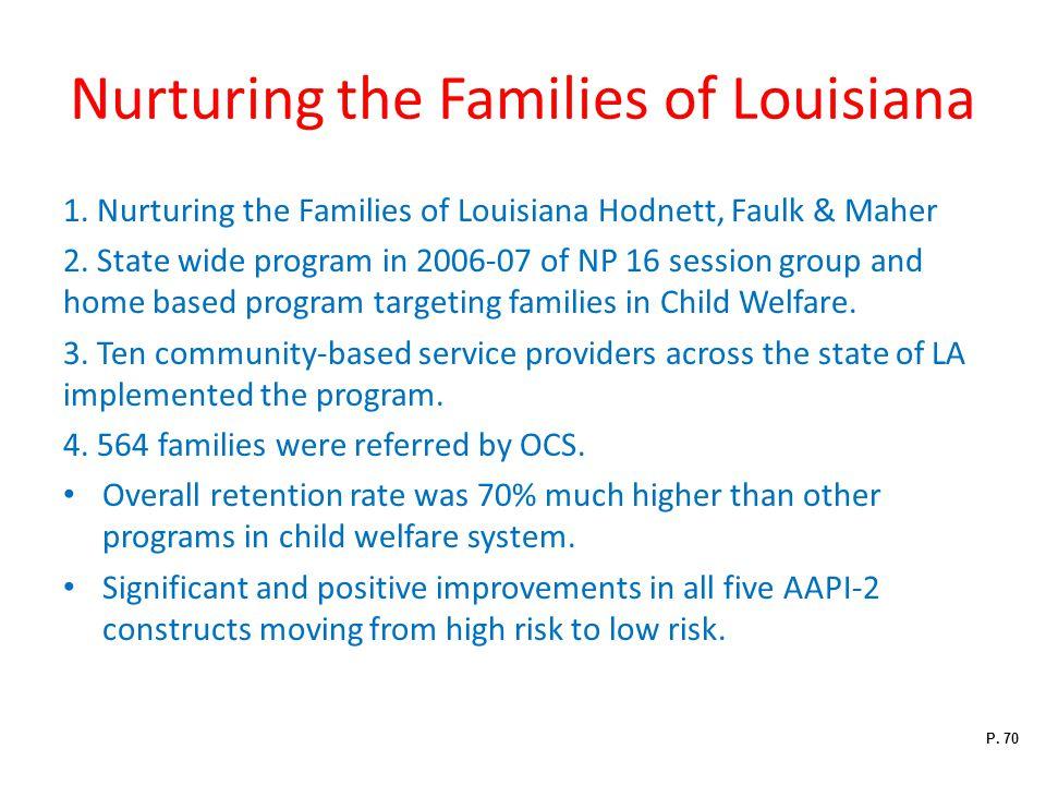 Nurturing the Families of Louisiana 1.