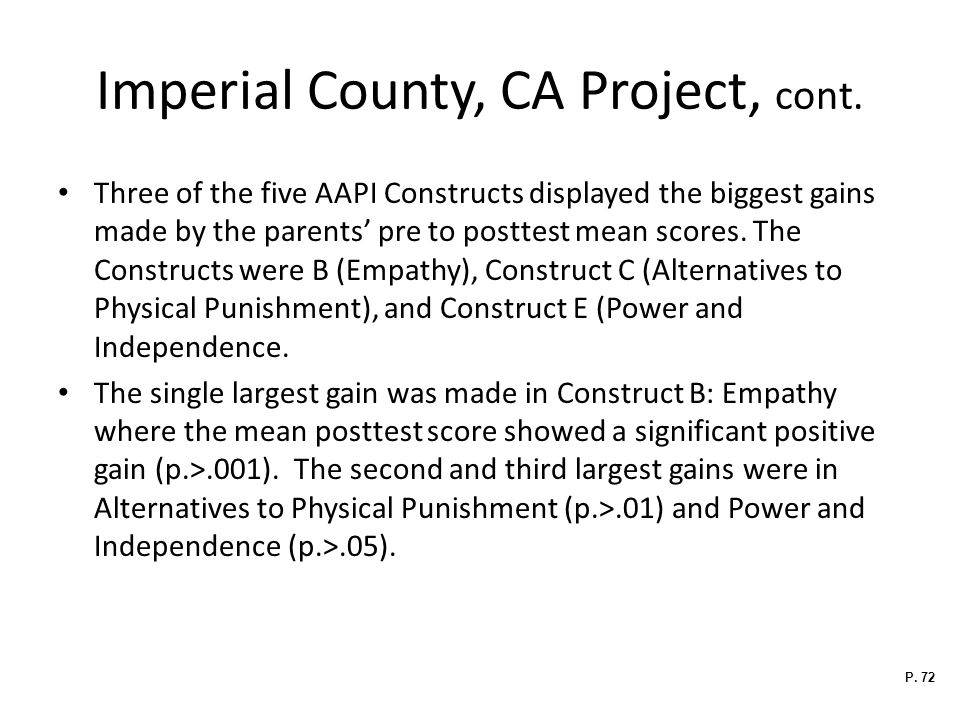 Imperial County, CA Project, cont.