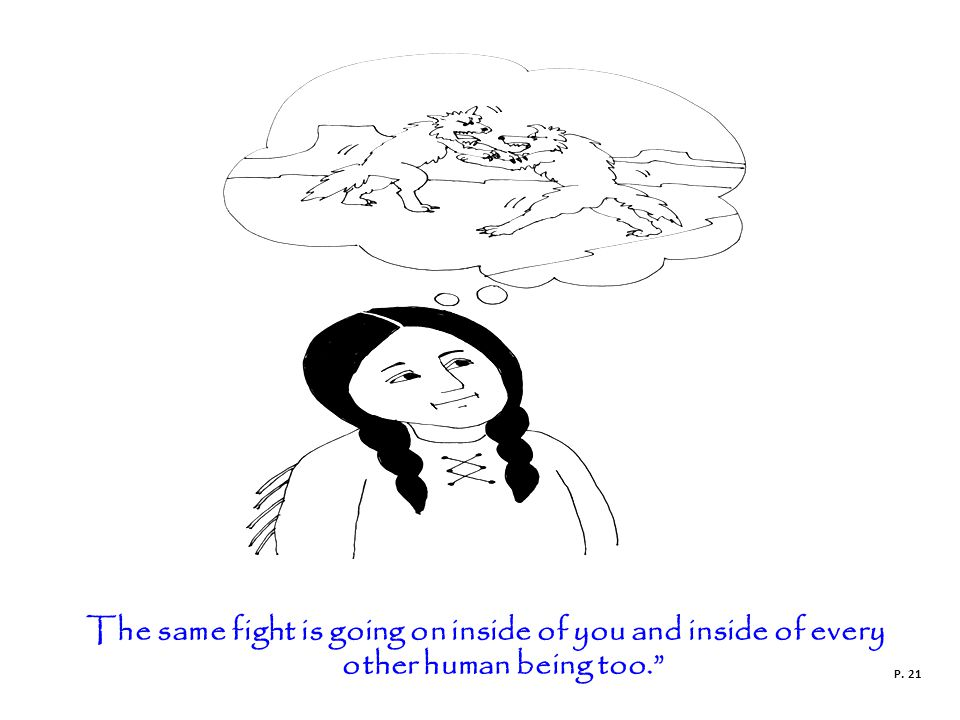 The same fight is going on inside of you and inside of every other human being too. P. 21
