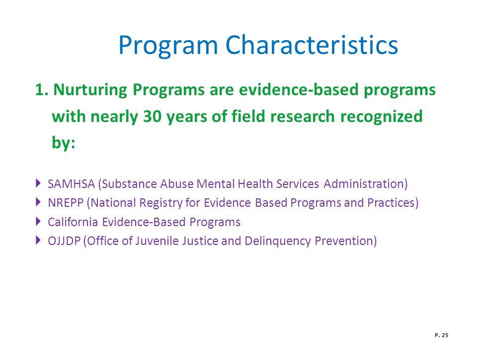Program Characteristics 1.