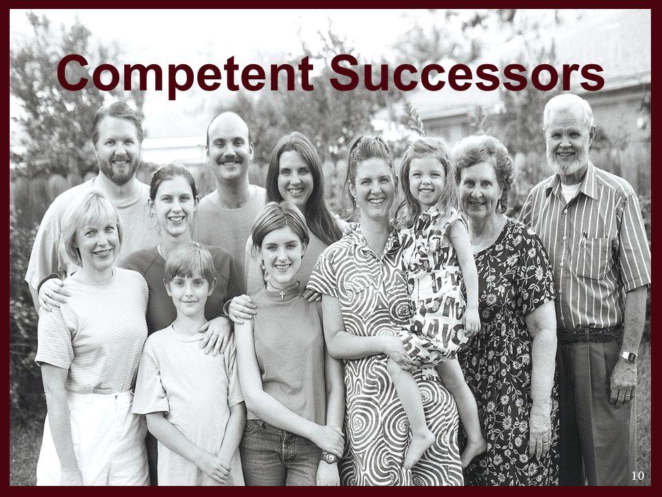 Competent Successors 10