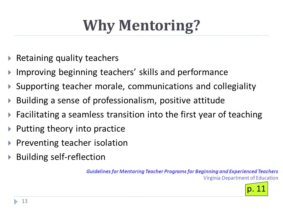 Why Mentoring.