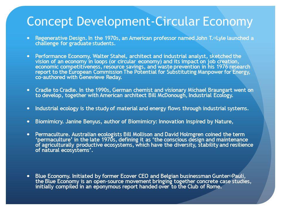 Concept Development-Circular Economy Regenerative Design.