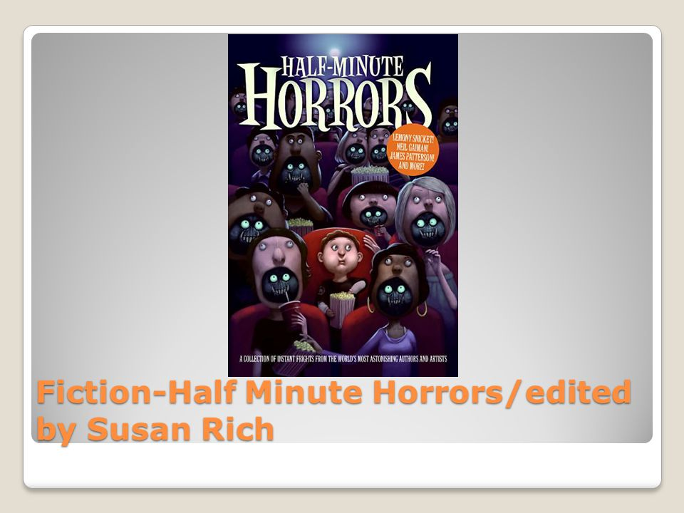 Fiction-Half Minute Horrors/edited by Susan Rich