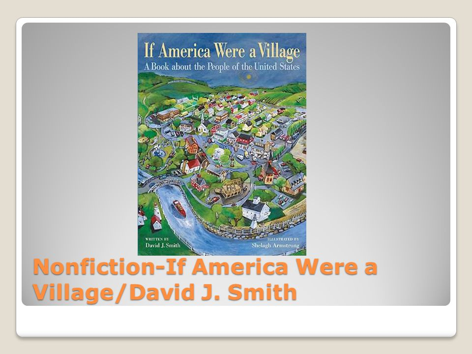Nonfiction-If America Were a Village/David J. Smith