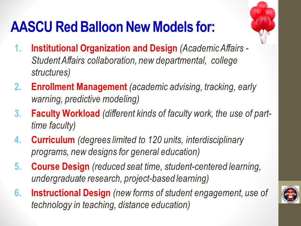 AASCU Red Balloon New Models for: 1.