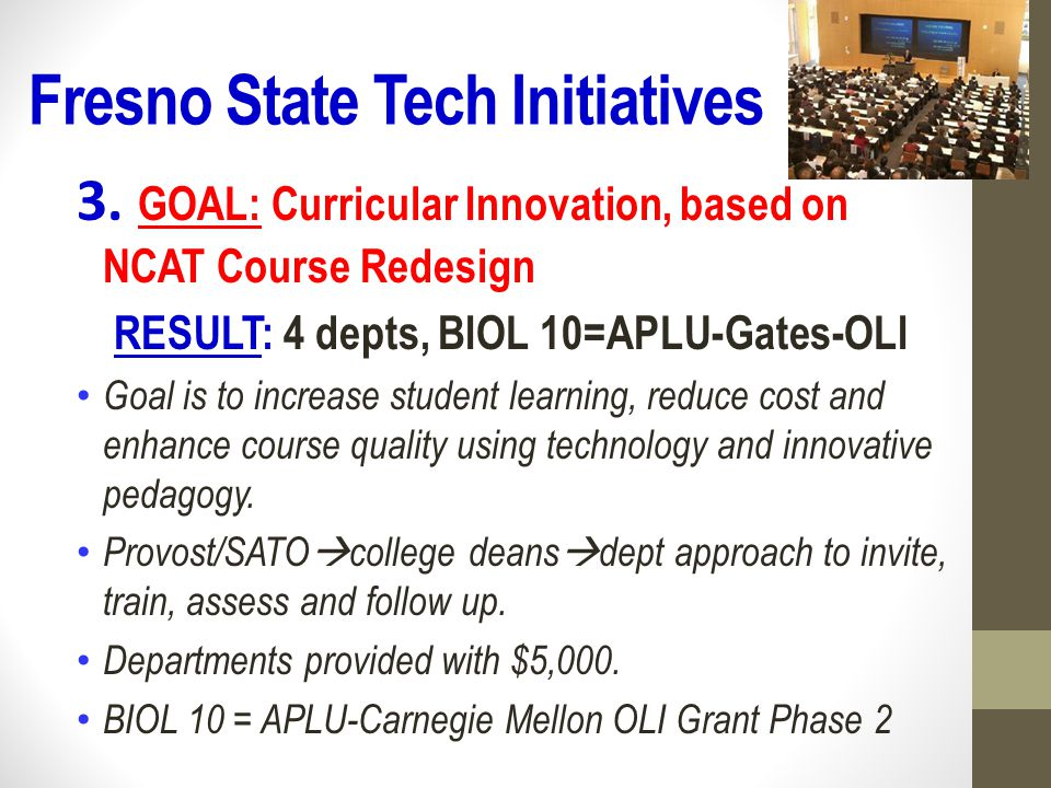 Fresno State Tech Initiatives 4.