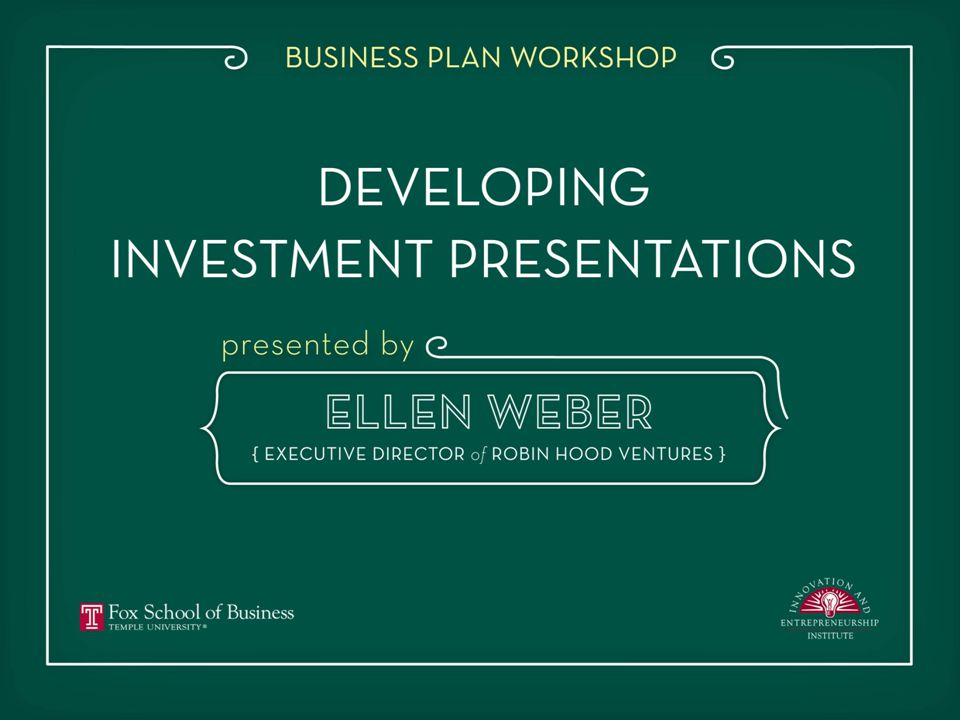 Jaine Lucas Ellen Weber Creating a Compelling and Persuasive Series A Investor Presentation 1