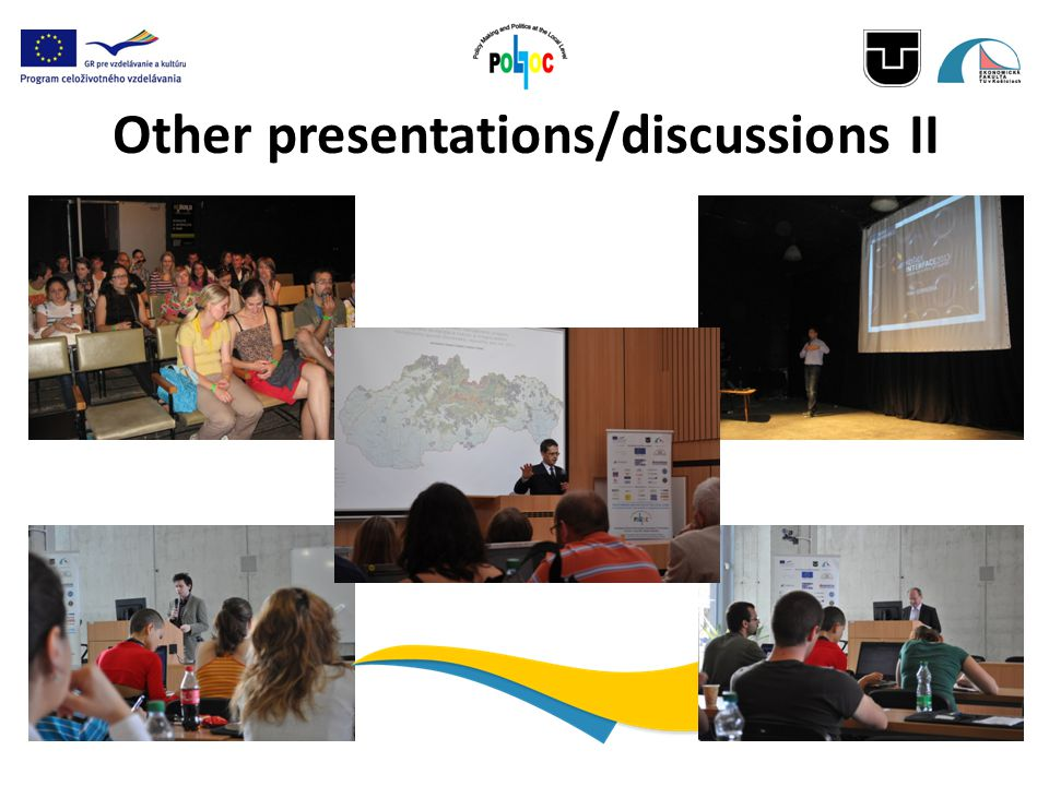 Other presentations/discussions II